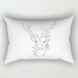 hipster dear Rectangular Pillow