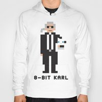 karl lagerfeld Hoodies featuring 8 Bit Karl by 8 Bit Icons