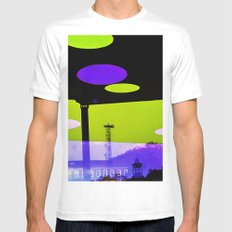 An Altered View of NYC Mens Fitted Tee White MEDIUM
