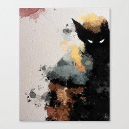 Wolvie Water Colour Canvas Print
