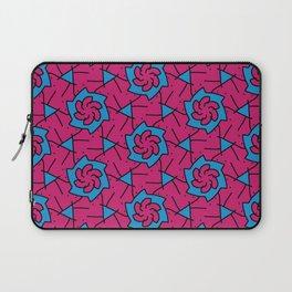 Patterns: Pink Blue Flowers Laptop Sleeve
