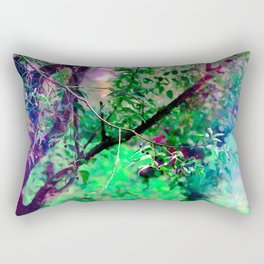 """""""Learn Character From Trees, Values From Rootes and Change From Trees"""" Tanseen Hameed Rectangular Pillow"""