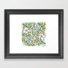 Flowers 'n Rain. Framed Art Print