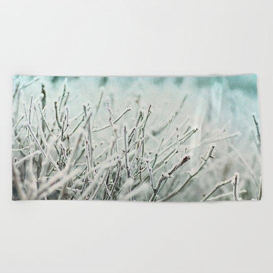 Winter frost Beach Towel