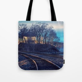 Railroad to the Music Room Tote Bag