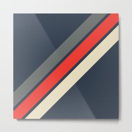 3 Retro Stripes #4 Metal Print