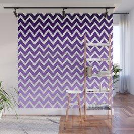 Zigzag Purple Chevron Pattern                                            Wall Mural