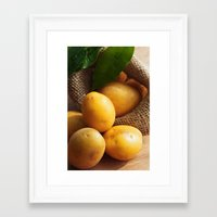potato Framed Art Prints featuring potato sack by Tanja Riedel