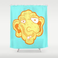 kevin russ Shower Curtains featuring Slim McDibbles by Kevin Berquist by UCO Design