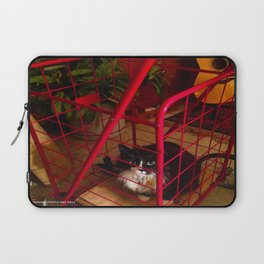 Cat in a Cart (Gracie Queen of Chicago Collection) Laptop Sleeve