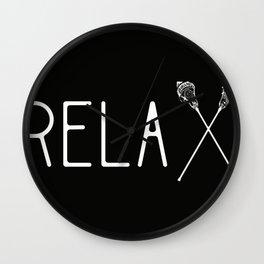 Relax Lacrosse Sticks Lacrosse Player LAX team gift Lacrosse Coach Lacrosse Practice Wall Clock