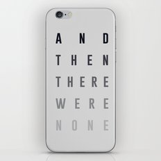 And Then There Were None iPhone & iPod Skin