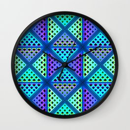 3D pattern, decorative ornament Wall Clock