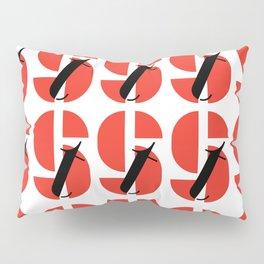 Bauhaus font art: Joschmi Xants Pillow Sham