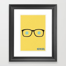 New Girl - Minimalist Framed Art Print