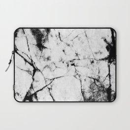Marble Concrete Stone Texture Pattern Effect Dark Grain Laptop Sleeve
