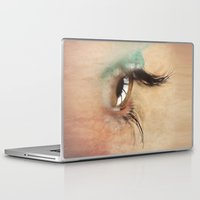 all seeing eye Laptop & iPad Skins featuring All Seeing Eye by Fran Walding