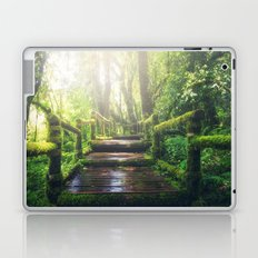 Green Jungle Forest Path Laptop & iPad Skin