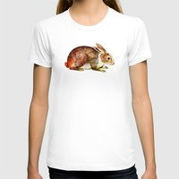 bunny T-shirts featuring Bunny by TatiAbaurreDesigns