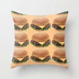 Cheeseburger Throw Pillow