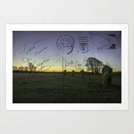 Mythical Avebury Stones Sunrise (Postcard) Wiltshire, England Art Print