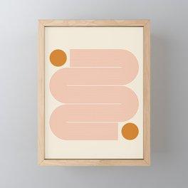 Abstraction_SUN_LINE_ART_Minimalism_002 Framed Mini Art Print