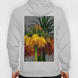 YELLOW CROWN IMPERIAL WATERCOLOR  FLOWERS Hoody