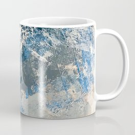 Wander [3]: a vibrant, colorful abstract in blues, pink, white, and gold Coffee Mug