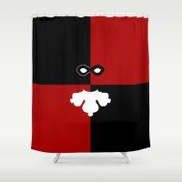 harley quinn Shower Curtains featuring Harley Quinn by DavinciArt