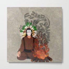 FireSide Metal Print