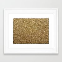 rose gold Framed Art Prints featuring Gold by Rose Wierts