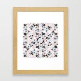 Sparkling Unicorn Summer Pattern Framed Art Print