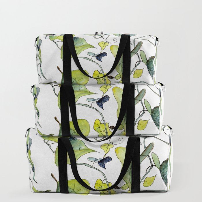 Blue and Green Vines, Pattern Duffle Bag