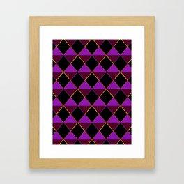 Party Diamonds Framed Art Print