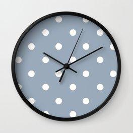 Carolina Blue Dotty Wall Clock