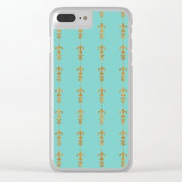 Edwardian Duck egg Clear iPhone Case