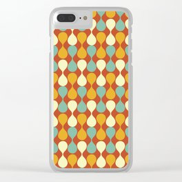 Mirrored Raindrops Mid Century Modern Clear iPhone Case