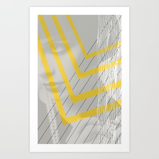 Lady in lines Art Print