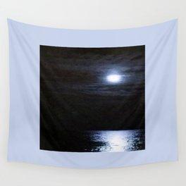 Moon Over Lake Michigan Wall Tapestry