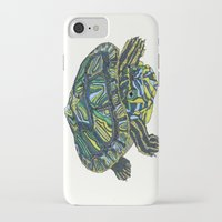 turtle iPhone & iPod Cases featuring Turtle by Aina Serratosa