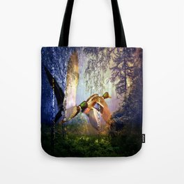 Ducks Flying To The Lake By Annie Zeno Tote Bag