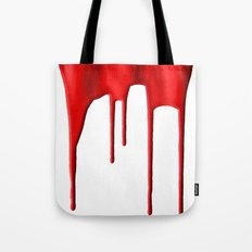 Red Splatter Tote Bag