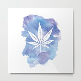 One Love: Blue Metal Print