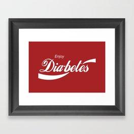 Enjoy Diabetes Framed Art Print