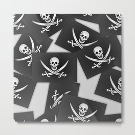 The Jolly Roger of Calico Jack Metal Print