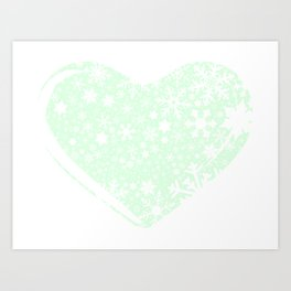 Christmas Heart Background Art Print