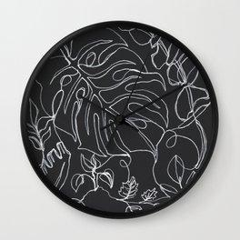 Botanical in B&W Wall Clock