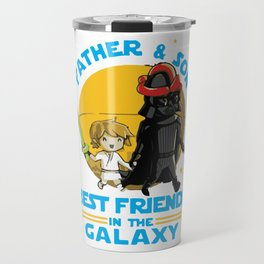 Father and Son in the Galaxy Travel Mug