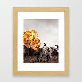 Escape on an Elephant Framed Art Print