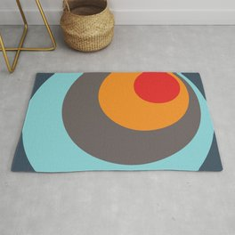 Brighid - Classic Colorful Abstract Minimal Retro 70s Style Dots Design Rug